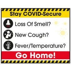 Stay COVID-Secure Go Home! Label