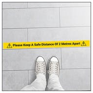 5 Pack - Please Keep A Safe Distance Of 2M Temporary Floor Markers