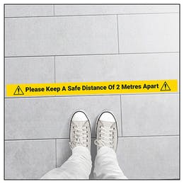 5 Pack - Safe Distance Of 2M Temporary Floor Markers