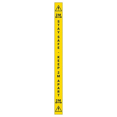 5 Pack - Stay Safe Keep 2m Apart Wall Markers