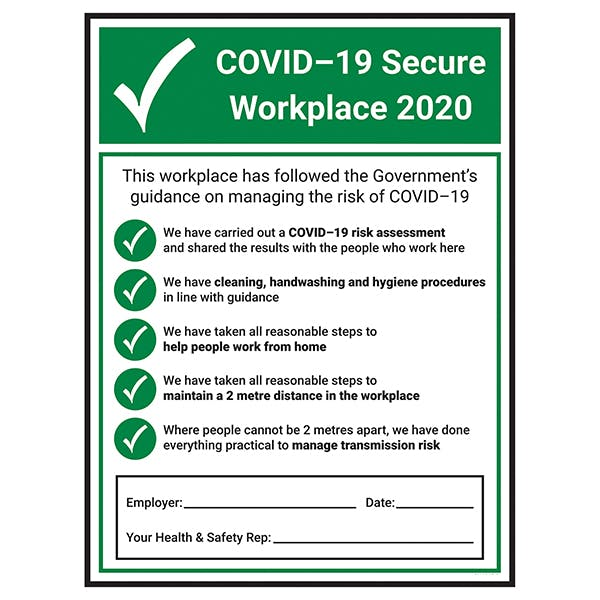 COVID-19 Secure Workplace 2020