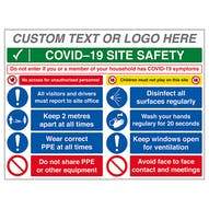 Custom Logo COVID-19 Site Safety Board - If You Have Symptoms