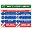 COVID-19 Site Safety - No Unauthorised Persons