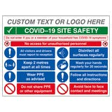 Custom Logo COVID-19 Site Safety - No Unauthorised...