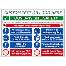 Custom Logo COVID-19 Site Safety - No Unauthorised...