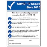 COVID-Secure Retail Signs