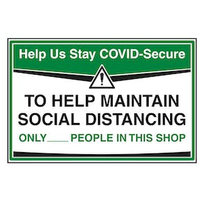 Stay COVID-Secure - Maintain Social Distancing