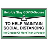 Stay COVID-Secure - No Groups Of More Than 2