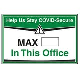 Stay COVID-Secure - Max People In This Office