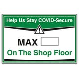 Stay COVID-Secure - Max People On The Shop Floor