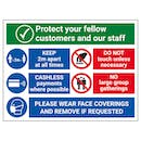 Protect Customers and Staff - Wear Face Coverings
