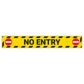 No Entry Temporary Floor Sticker