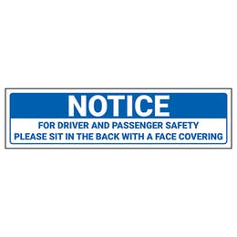 Notice - Driver And Passenger Safety Label
