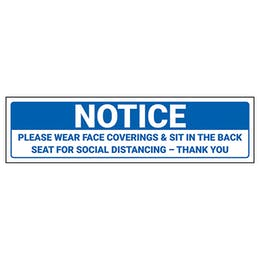 Notice - Please Wear Face Coverings Label