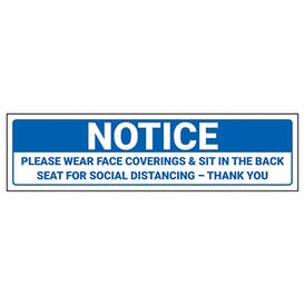 Notice - Please Wear Face Coverings Label