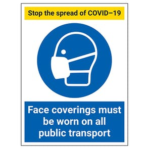 Stop The Spread - Face Coverings On Public Transport