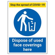 Stop The Spread - Dispose Of Used Face Coverings Here
