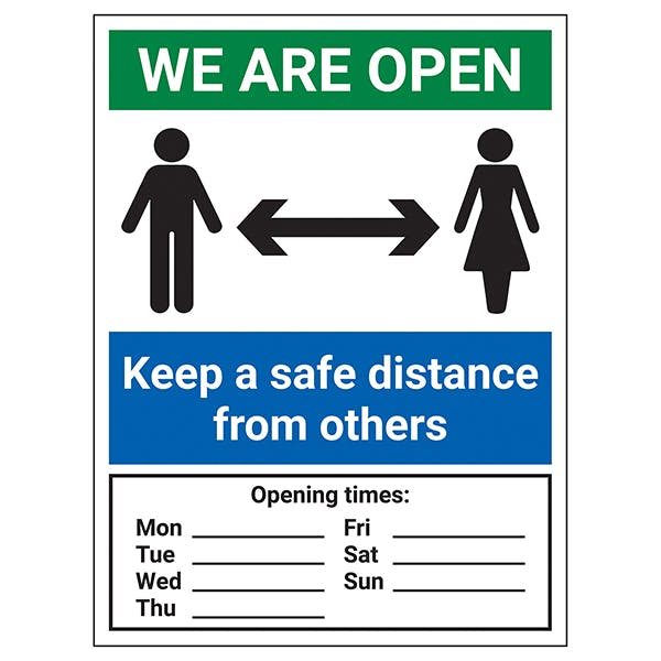 We Are Open - Opening Times