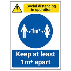 Social Distancing In Operation - Keep 1m Apart