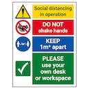 Social Distancing In Operation - 1M - Use Own Desk