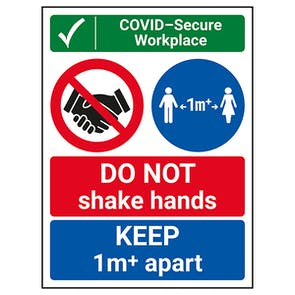 COVID-Secure Workplace - 1M - DO NOT Shake Hands