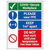 COVID-Secure Workplace - PLEASE Wear PPE - 1M
