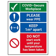 COVID-Secure Workplace - PLEASE Wear PPE - 1M