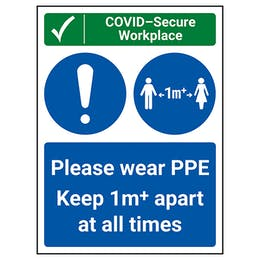 COVID-Secure Workplace - PPE / Keep 1m Apart