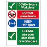 COVID-Secure Workplace - 1M - Use Own Desk