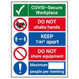 COVID-Secure Workplace - 1M - Do Not Share Equipment