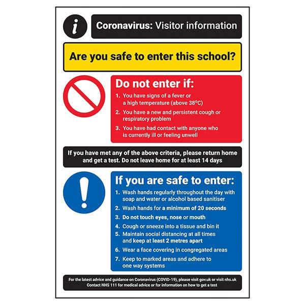 CV Visitor Information - Safe To Enter School