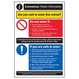 CV Visitor Information - Safe To Enter School