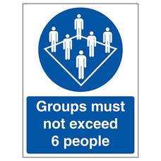 Groups Must Not Exceed 6 People