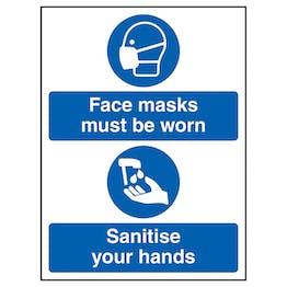 Face Masks - Sanitise Hands