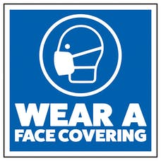 Wear A Face Covering - Sticker