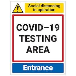 COVID-19 Testing Area - Entrance