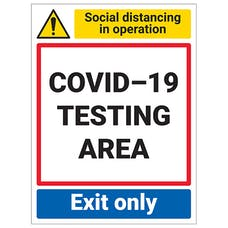 COVID-19 Testing Area - Exit Only