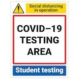 COVID-19 Testing Area - Student Testing