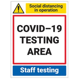 COVID-19 Testing Area - Staff Testing
