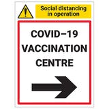 COVID-19 Vaccination Centre - Arrow Right