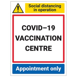 COVID-19 Vaccination Centre - Appointment Only