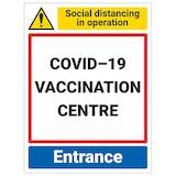 COVID-19 Vaccination Centre - Entrance