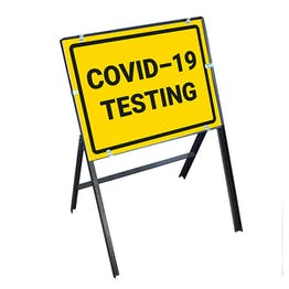 COVID-19 Testing Stanchion Frame