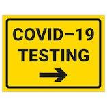 COVID-19 Testing - Arrow Right