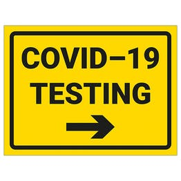 COVID-19 Testing - Arrow Right