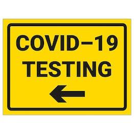 COVID-19 Testing - Arrow Left