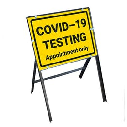 COVID-19 Testing - Appointment Only Stanchion Frame