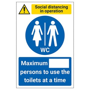 Social Distancing In Operation - Max Persons In Toilets
