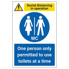 Social Distancing In Operation - One Person In WC At A Time