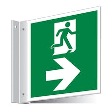 Fire Exit Right/Left Corridor Sign